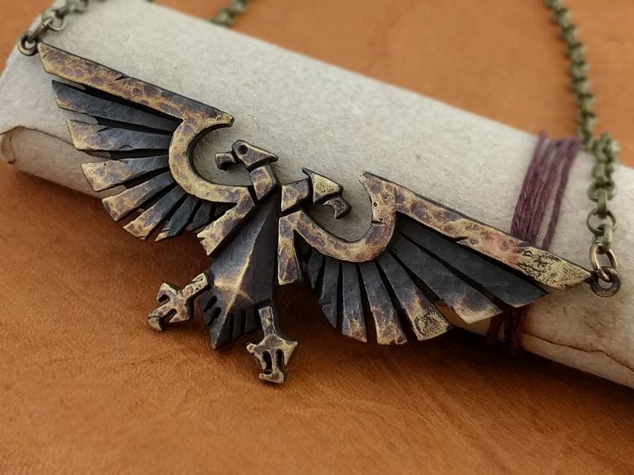 Warhammer 40K Emperor of Mankind Ancient Aquila Necklace