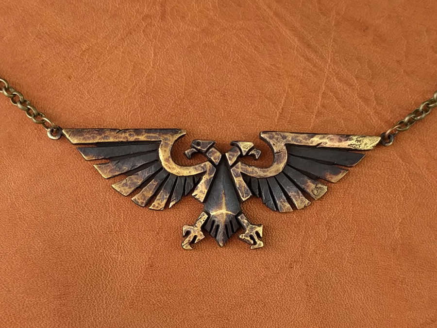 Warhammer 40k Emperor Of Mankind Ancient Aquila Necklace Pendant Jewelry