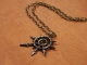 Warhammer 40K Large Chaos Star Hand Hammered Pendant