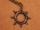 Warhammer 40K Chaos Star Hand Hammered Pendant