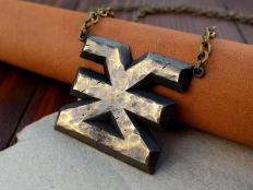 Brass  Warhammer 40K Khorne Chaos Necklace Pendant