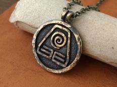 Avatar Earth Kingdom Nation  Necklace