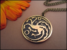 Game of Thrones House Targaryen Pendant