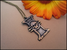 Warhammer 40K Inquisition  Antique Pendant