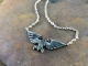 Warhammer 40K Sterling Silver  Emperor of Mankind Ancient Imperial Aquila Necklace