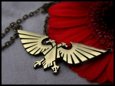 Warhammer 40K Emperor of Mankind Imperial Aquila Necklace