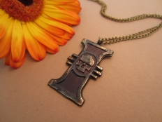 Warhammer 40K Inquisition  Antique Enamel Pendant