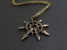 Large Warhammer 40K Chaos Star Ancient Pendant