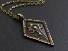 Large World of Warcraft Ancient Horde Orc Necklace
