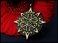 Mayan Sun and Star Pendant