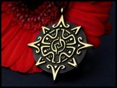 Mayan Sun and Star Pendant