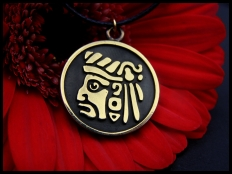 Mayan Raingod Tlaloc Pendant