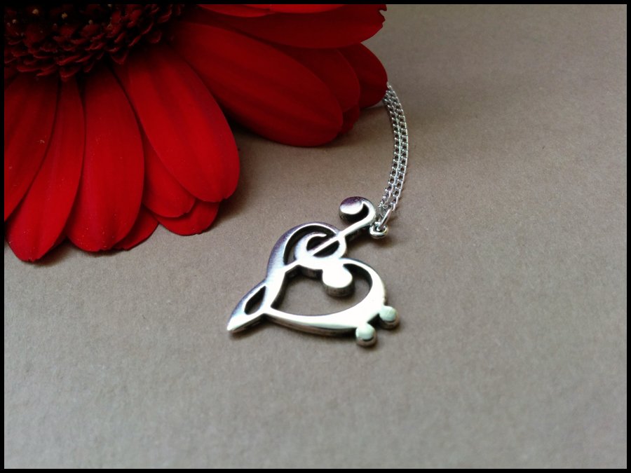 925 sterling silver treble bass clef heart pendant 925 sterling silver treble bass clef heart pendant aloadofball
