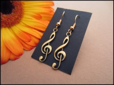 Treble Clef Pendant Earrings