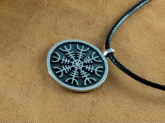 Medium Size 925 Sterling Silver Aegishjalmur Pendant
