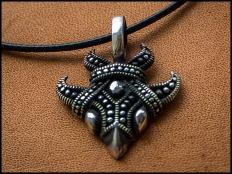 925 Sterling Silver Raven Pendant