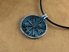 Silver Vegvisir Pendant - Viking Jewelry Handmade Compass
