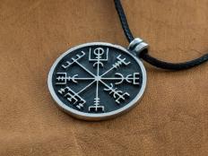 Silver Vegvisir Pendant - Viking Compass