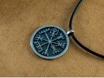 Silver Vegvisir Pendant - Viking Jewelry Compass