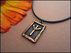 Algiz  Rune Pendant - Protection