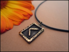 Kenaz Rune Pendant - Fire of life