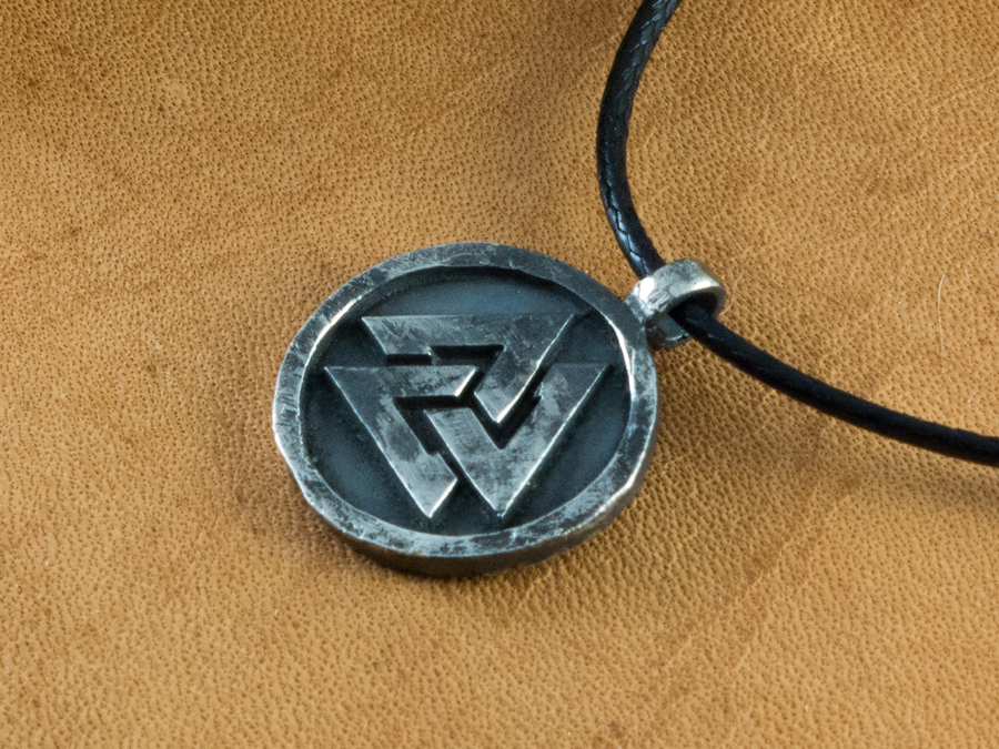 silver ancient valknut pendant. Black Bedroom Furniture Sets. Home Design Ideas
